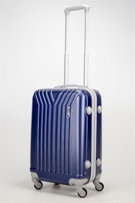 Чемодан маленький ABS У-образный темно-синий СФ - фото 37296