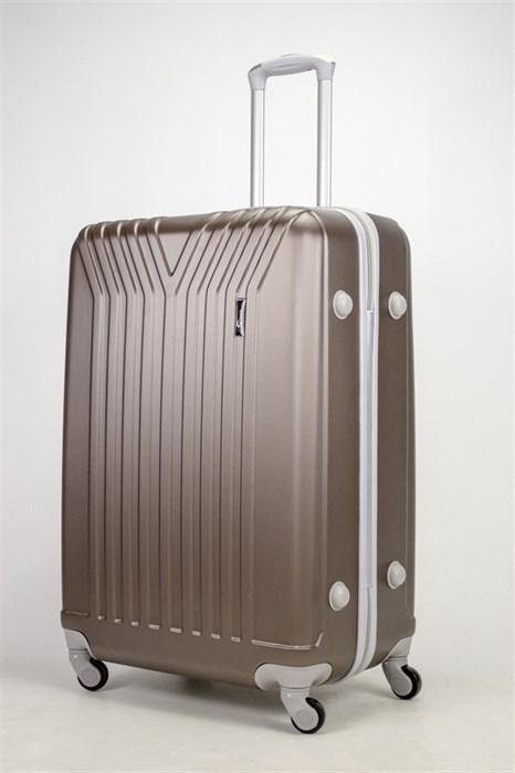 Чемодан большой ABS (У-образный) коричневый СФ - фото 37322