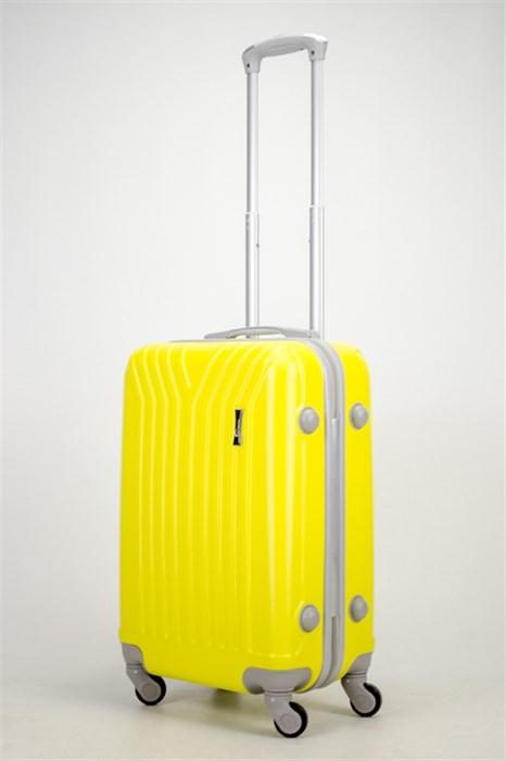 Чемодан маленький ABS У-образный желтый СФ - фото 37381