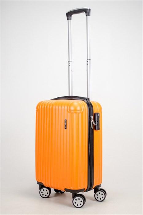 Чемодан маленький ABS ST (10 полос и уголки) оранжевый ЧФ - фото 37407