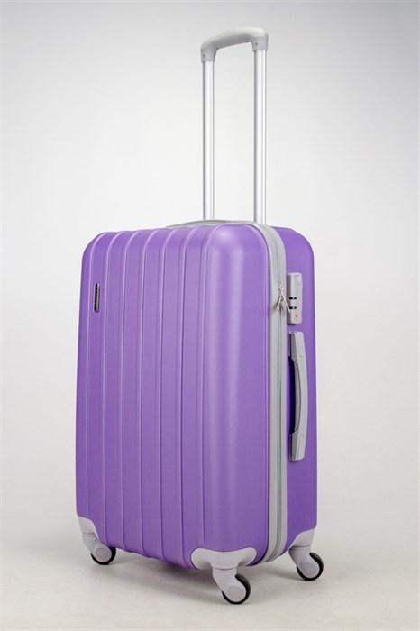 Чемодан средний ABS Passion (верт  полоски) фиолетовый (С) - фото 37450