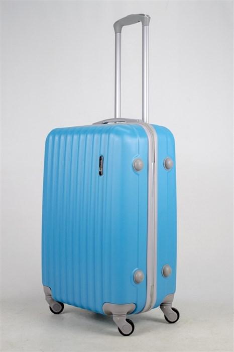 Чемодан средний ABS TT (верт  полоски) голубой - фото 37514