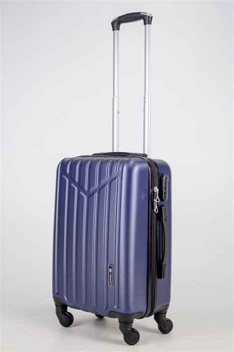 Чемодан маленький ABS Корона (буква М) темно-синий (Ч) - фото 37598