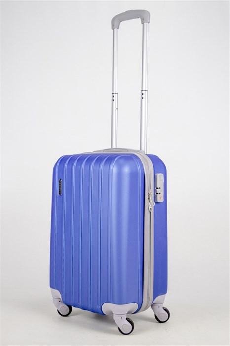Чемодан маленький ABS Passion 7 верт.линий ярко-синий - фото 37612