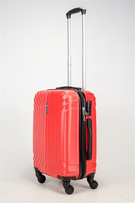 Чемодан маленький ABS Корона (Лилия) красный ЧФ - фото 37755
