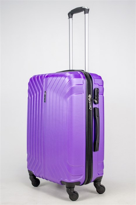 Чемодан средний ABS Корона (Лилия) фиолетовый ЧФ - фото 37792