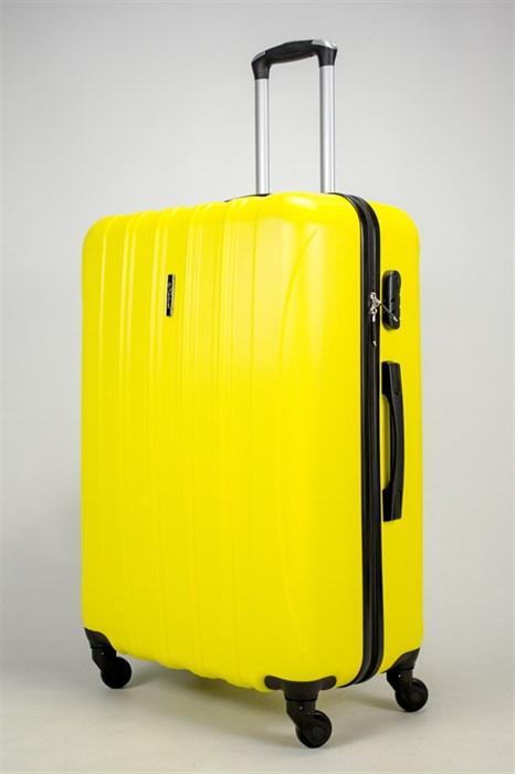 Чемодан большой ABS KK (5(4) полос)  желтый - фото 37813