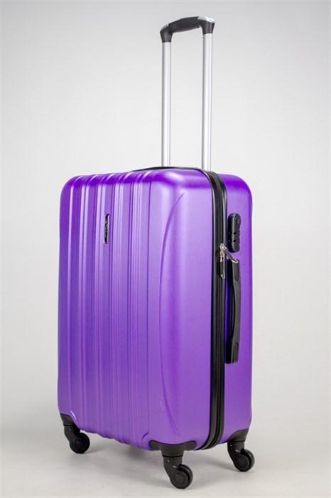 Чемодан средний ABS KK (5(4) полос) фиолетовый - фото 37847