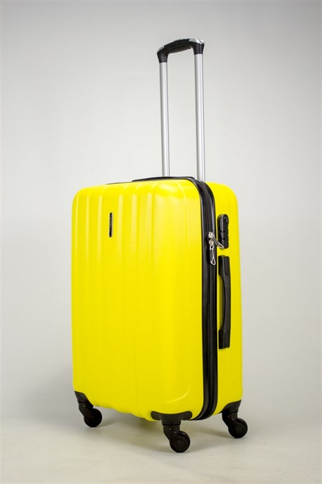 Чемодан средний ABS KK (5(4) полос)  желтый - фото 37875