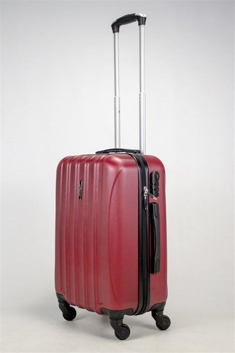 Чемодан маленький ABS KK (5(4) полос) бордовый - фото 37889