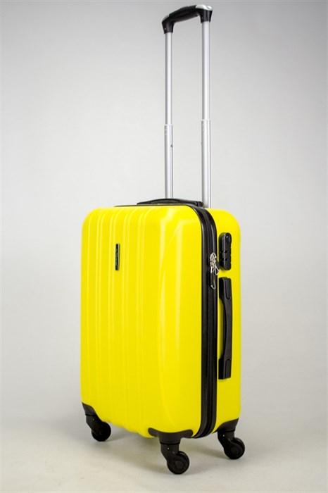 Чемодан маленький ABS KK (5(4) полос)  желтый - фото 37896