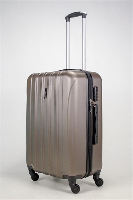 Чемодан средний ABS KK (5(4) полос)  коричневый - фото 37915
