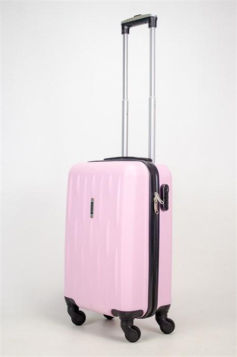 Чемодан маленький ABS OCCE (черточки) розовый ЧФ - фото 38069
