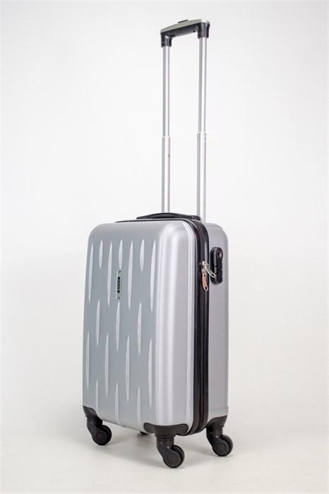 Чемодан маленький ABS OCCE (черточки) серебристый ЧФ - фото 38077
