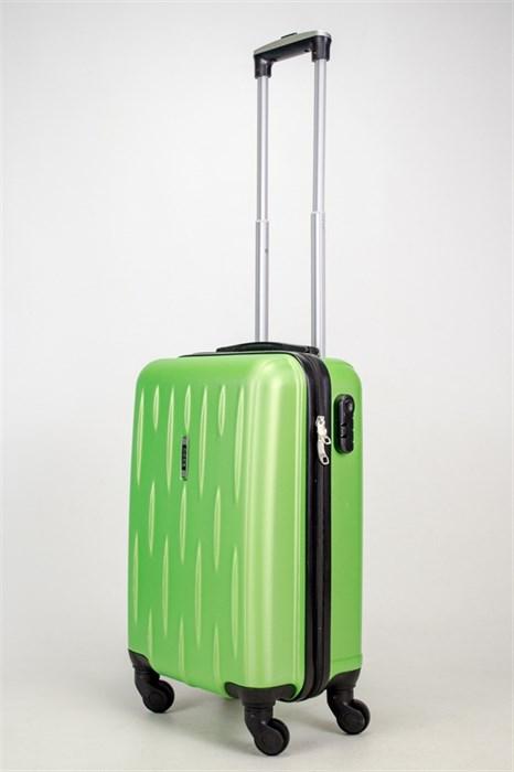 Чемодан маленький ABS OCCE (черточки) зеленый ЧФ - фото 38138