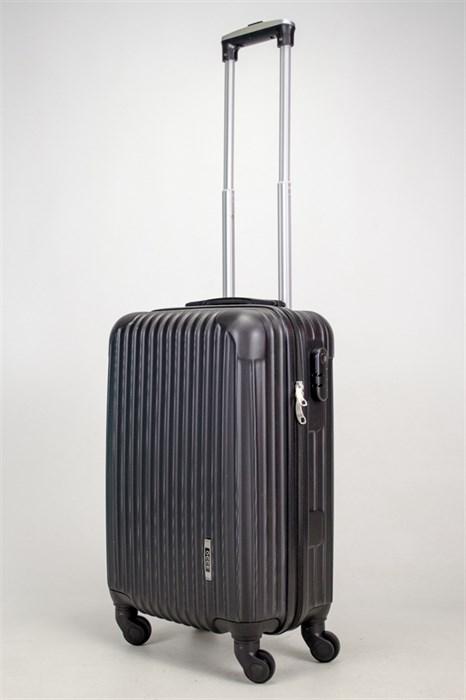 Чемодан маленький ABS OCCE (9 полос углы) черный ЧФ - фото 38170