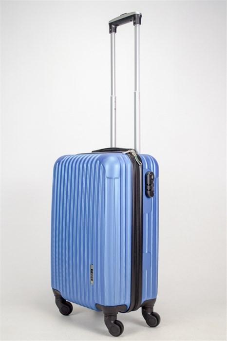Чемодан маленький ABS OCCE (9 полос углы) синий ЧФ - фото 38205