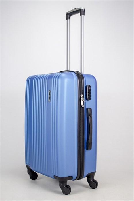 Чемодан средний ABS OCCE (15 полос) синий ЧФ - фото 38219