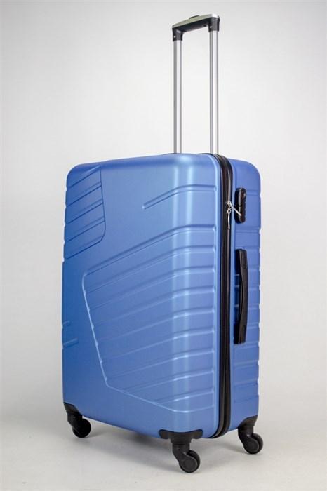 Чемодан большой ABS OCCE (вафли) синий ЧФ - фото 38233