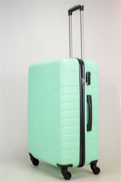 Чемодан большой ABS OCCE (вафли) мятный ЧФ - фото 38247