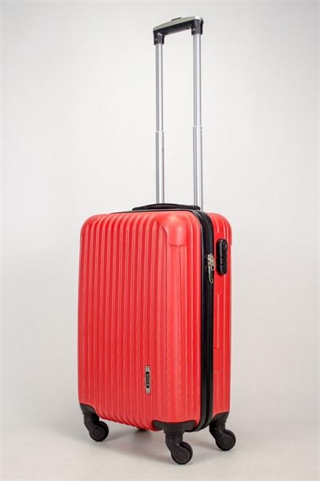 Чемодан маленький ABS OCCE (9 полос углы) красный ЧФ - фото 38274