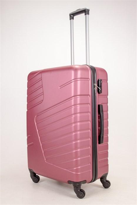 Чемодан большой ABS OCCE (вафли) бордовый ЧФ - фото 38323
