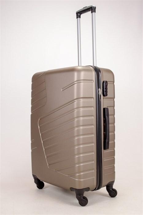 Чемодан большой ABS OCCE (вафли) коричневый ЧФ - фото 38330