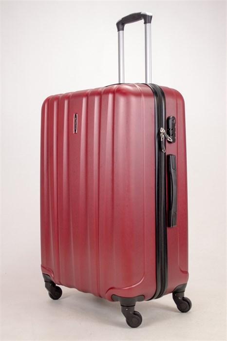 Чемодан большой ABS KK (6 полос) бордовый - фото 38337