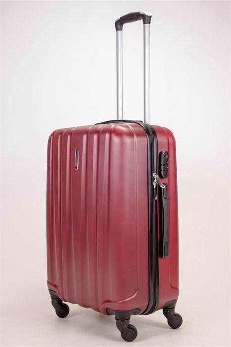 Чемодан средний ABS KK (6 полос) бордовый - фото 38344