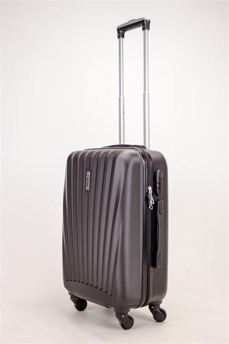 Чемодан маленький ABS Hossoni черный - фото 38372