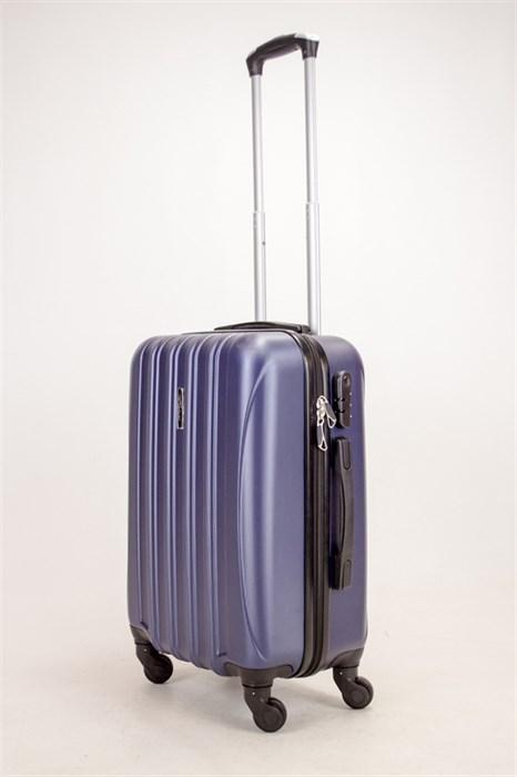 Чемодан маленький ABS KK (5(4) полос)  темно-синий - фото 38386