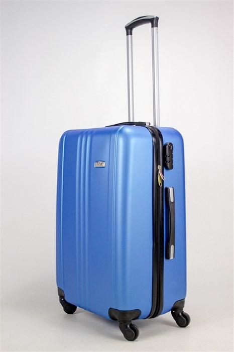 Чемодан средний ABS TLite (3 полосы по центру) синий ЧФ - фото 38427
