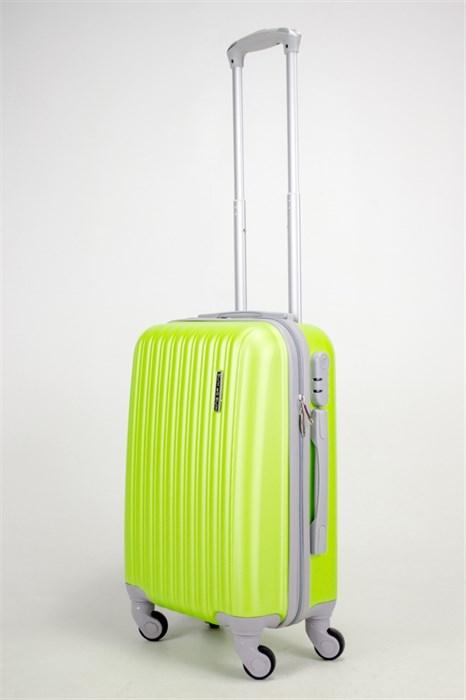 Чемодан маленький ABS TT (верт  полоски) зеленый СФ - фото 38448