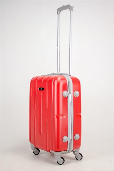 Чемодан маленький ABS KK (верт корот полос)  красный - фото 38455