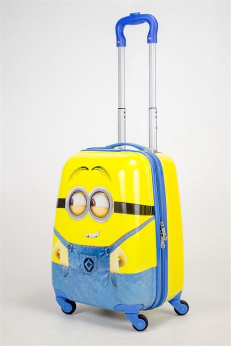 Детский чемодан PC на колесиках желтый 12989 - фото 38460