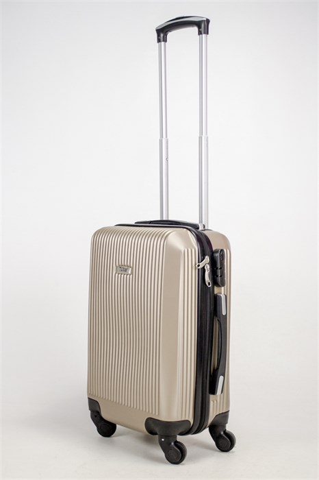 Чемодан маленький ABS TLite (вертикальные полосы) песочный ЧФ - фото 38509