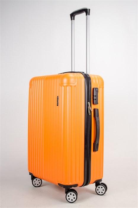 Чемодан средний ABS Smart Travel (верт полосы и углы) оранжевый - фото 38521