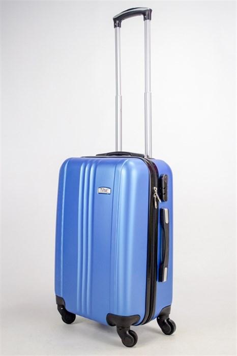 Чемодан маленький ABS TLite (3 полосы по центру) синий ЧФ - фото 38534