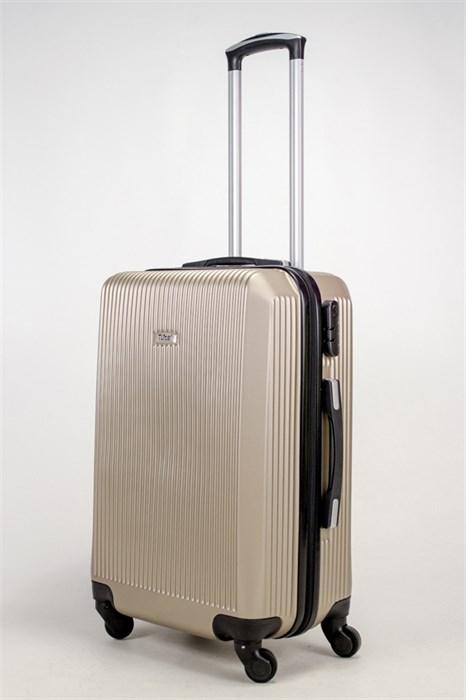 Чемодан средний ABS TLite (вертикальные полосы) песочный ЧФ - фото 38596