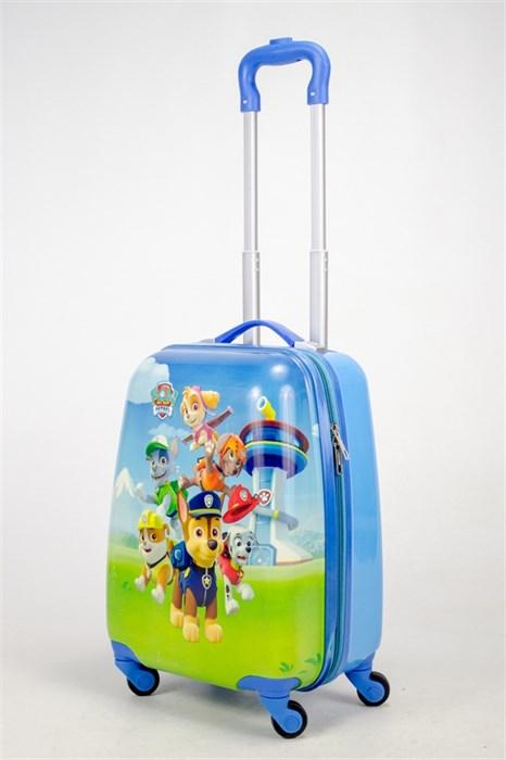 Детский чемодан PC на колесиках синий  12987 - фото 38680
