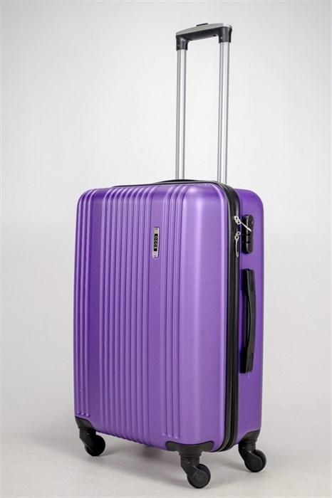Чемодан средний ABS OCCE (15 полос) фиолетовый ЧФ - фото 38743