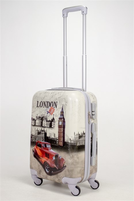 Чемодан маленький ABS Рисунок Лондон с машиной - фото 38750