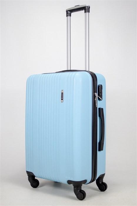 Чемодан средний ABS OCCE (15 полос) голубой - фото 38812