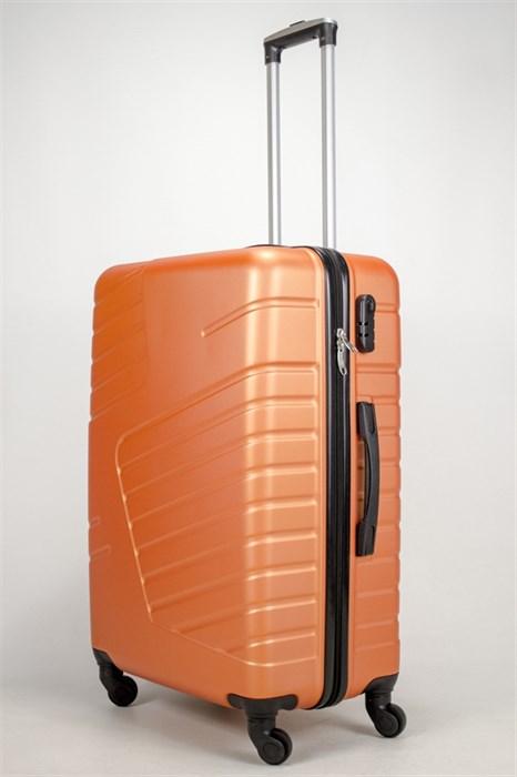 Чемодан большой ABS OCCE (вафли) оранжевый - фото 38837
