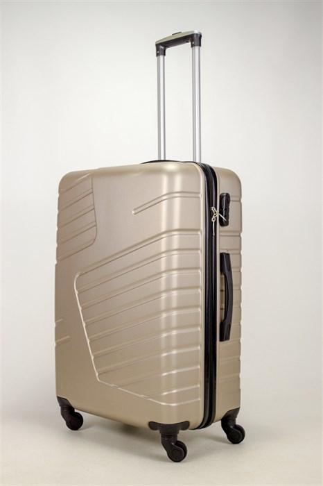 Чемодан большой ABS OCCE (вафли) песочный - фото 38855