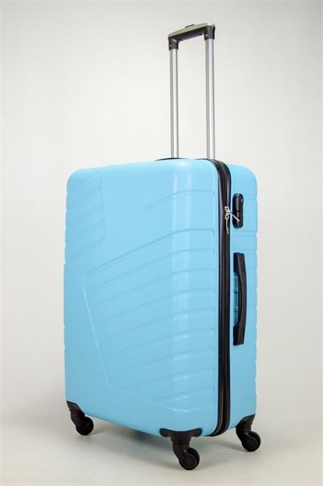 Чемодан большой ABS OCCE (вафли) голубой - фото 38862