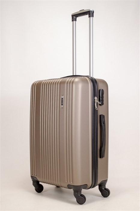 Чемодан средний ABS OCCE (15 полос) коричневый ЧФ - фото 38882