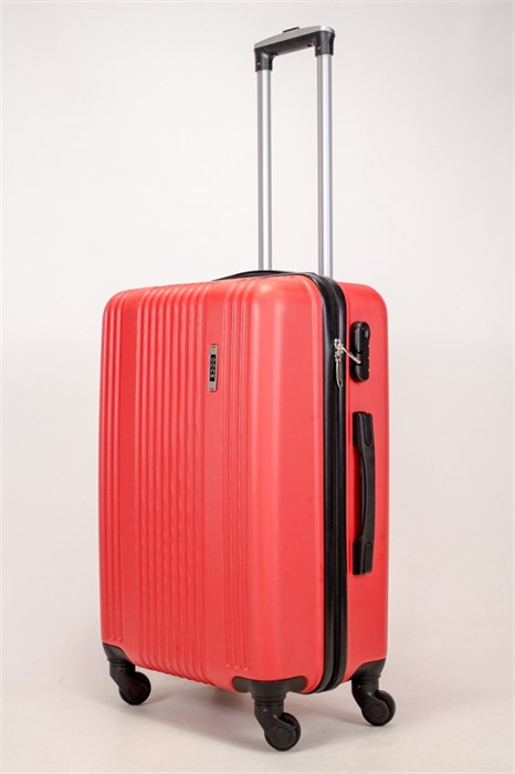 Чемодан средний ABS OCCE (15 полос) красный ЧФ - фото 38889