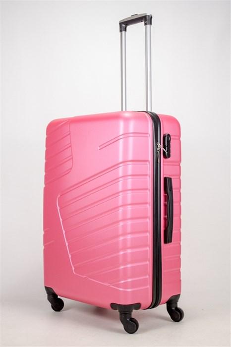 Чемодан большой ABS OCCE (вафли) розовый ЧФ - фото 38936