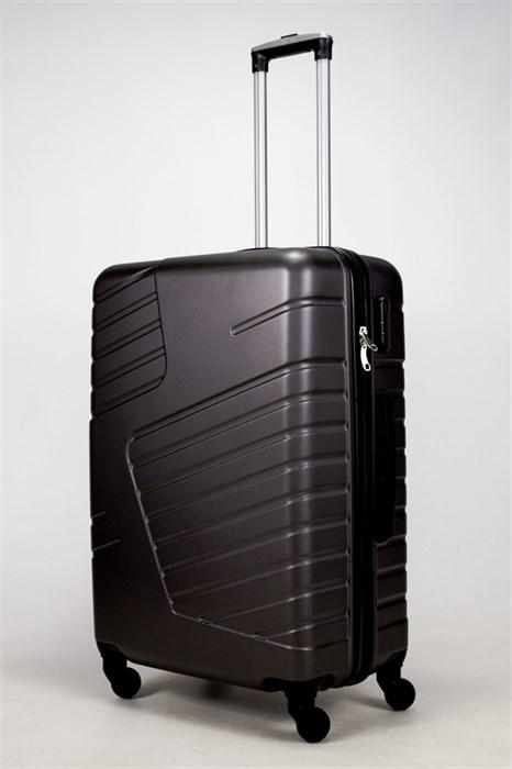 Чемодан большой ABS OCCE (вафли) черный - фото 38959